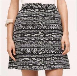 Maeve | Anthropologie black and white tribal skirt